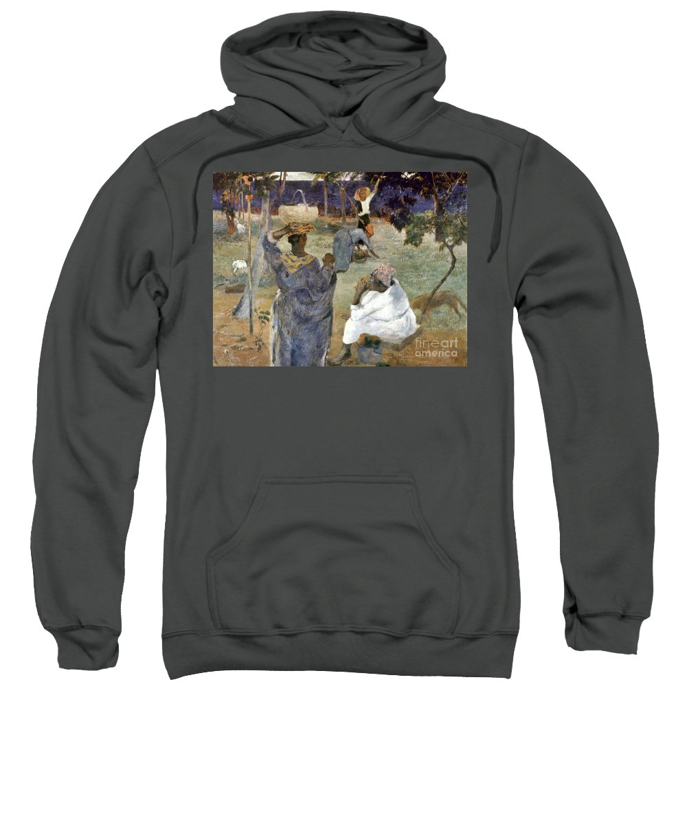 1887 Sweatshirt featuring the photograph Gauguin: Martinique, 1887 by Granger