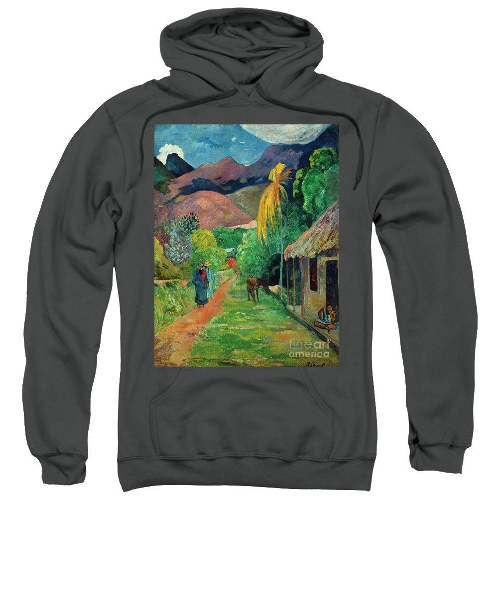 19th Century Sweatshirt featuring the photograph Gauguin Tahiti 19th Century by Granger
