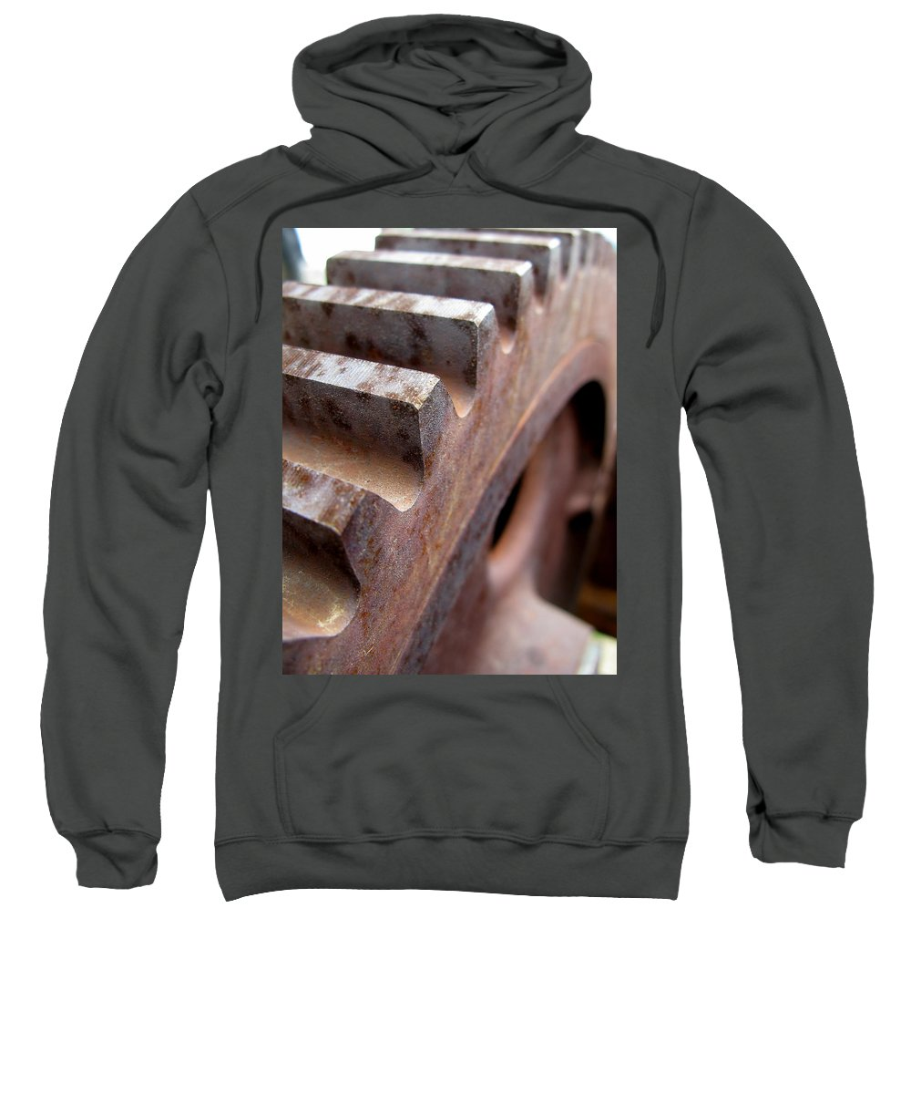 Rust Sweatshirt featuring the photograph Gear by Jeffery Ball