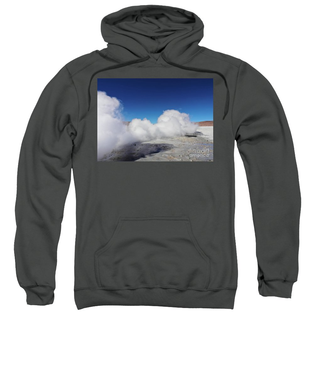 South America Sweatshirt featuring the photograph Geisers Sol De Manana, Bolivia by Karol Kozlowski