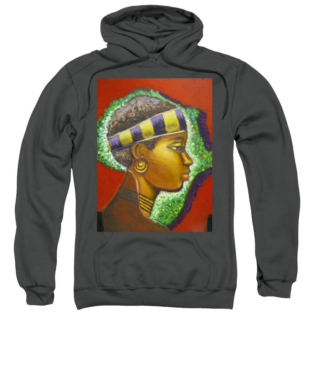 Gem Of Africa Sweatshirt featuring the painting Gem Of Africa by Jan Gilmore