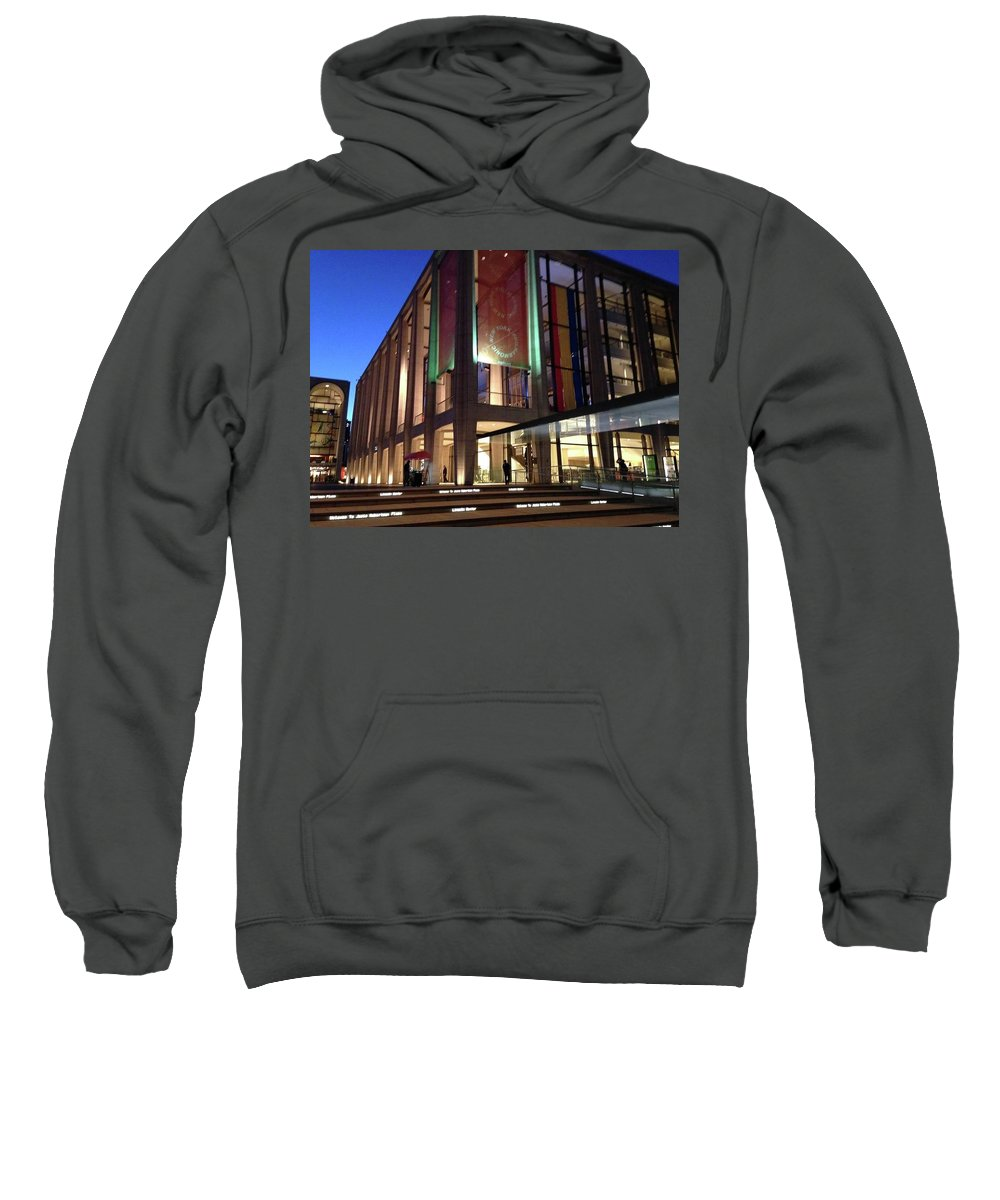 Lincoln Center Sweatshirt featuring the photograph Gems Of Lincoln Center 2 by Carolyn Quinn
