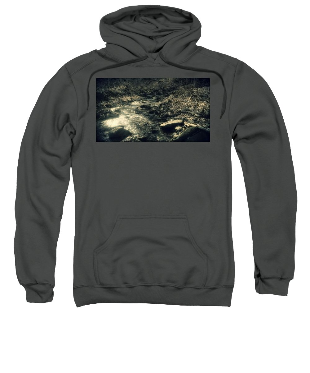 Creek Sweatshirt featuring the photograph Gentle Creek Flow by Shelley Smith