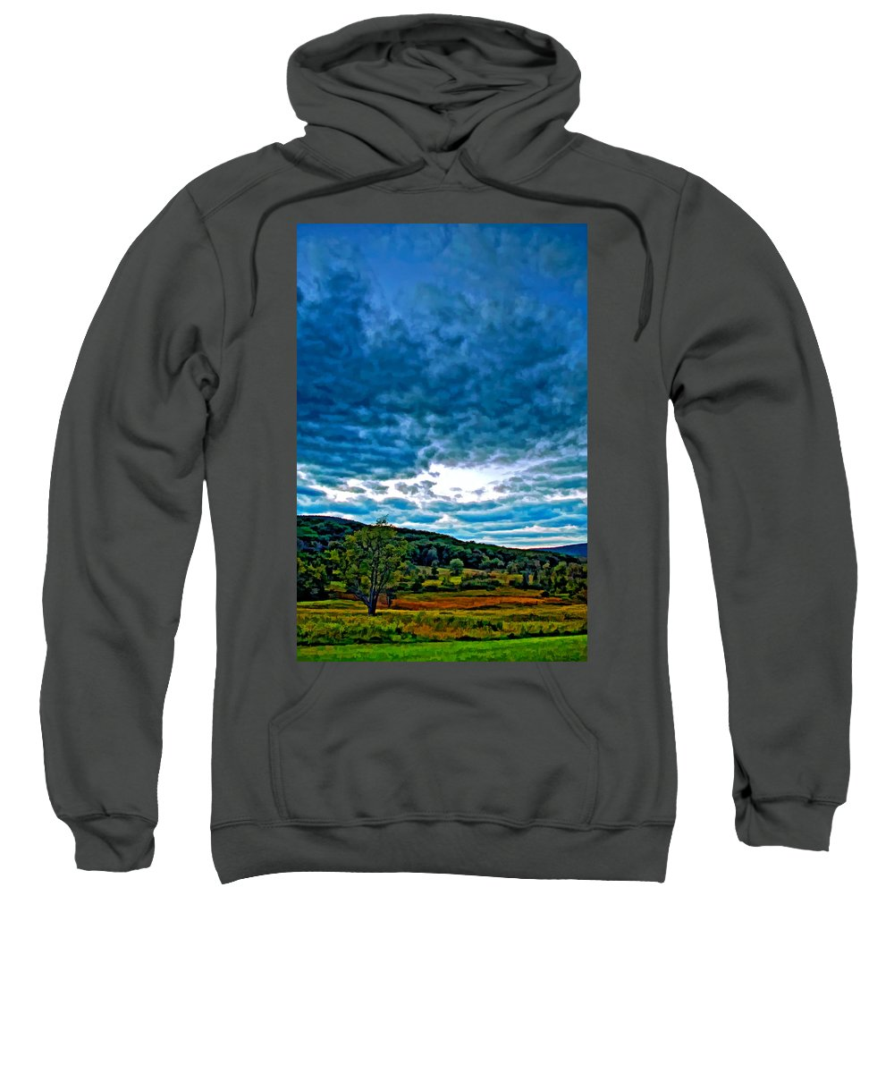 Canaan Valley Sweatshirt featuring the photograph Gentle Evening by Steve Harrington