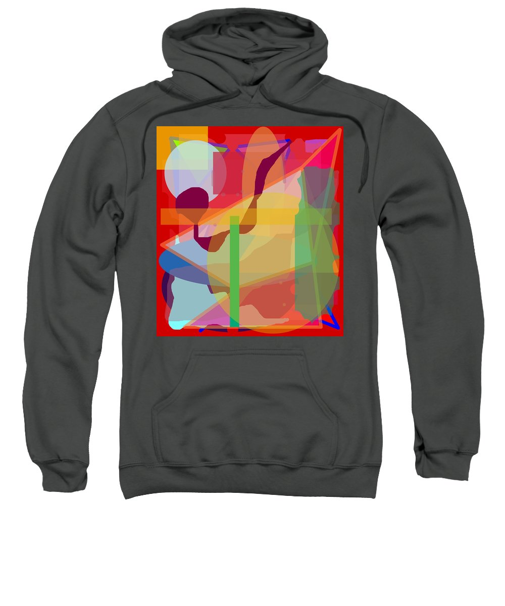 Abstract Sweatshirt featuring the painting Geo Frenzy by Pharris Art