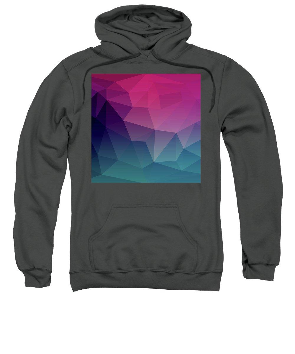 Geometric Sweatshirt featuring the digital art Geometric Flow by Susan Link