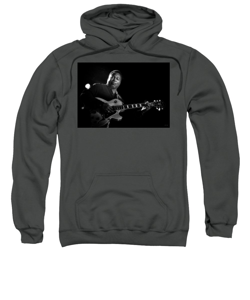 George Benson Sweatshirt featuring the photograph George Benson by Jean Francois Gil