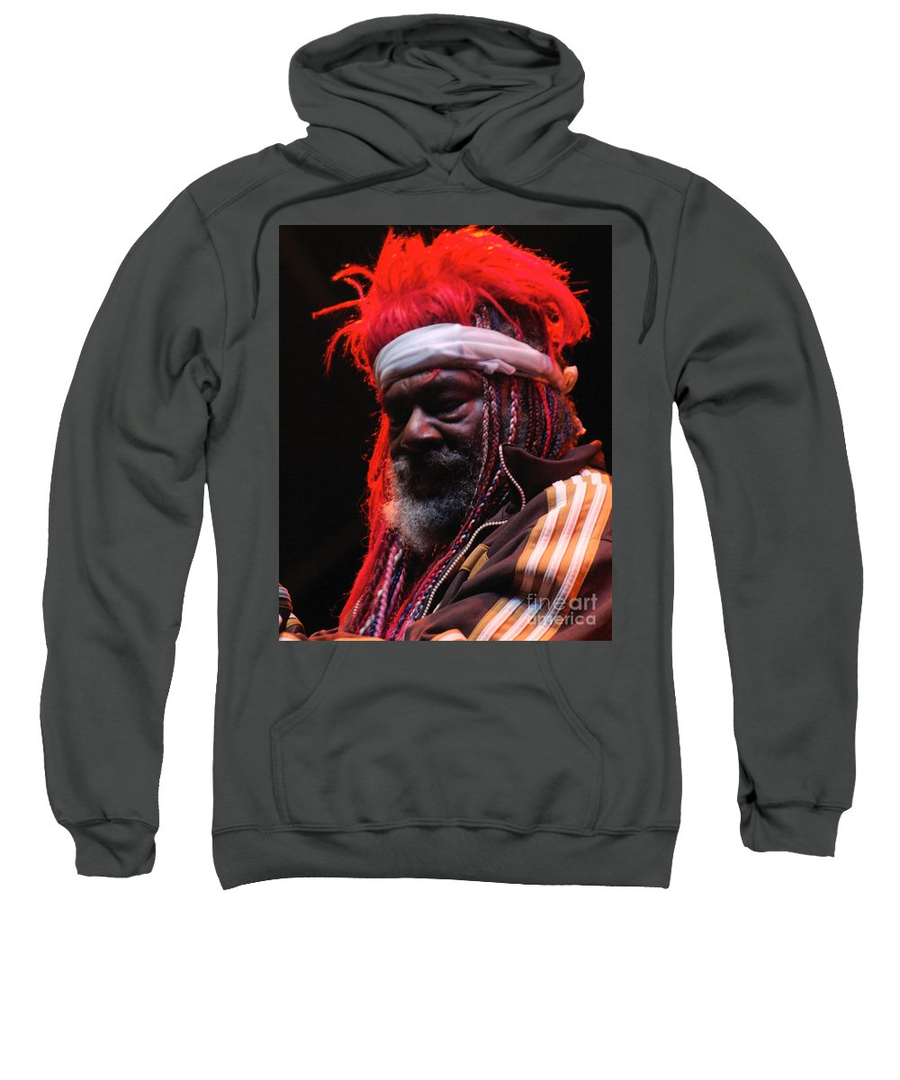 George Clinton Parliament Funkadelic Groove Funk Gathering Of The Vibes Bridgeport Connecticut Ct Bloomrosen Photograph Print T-shirt Sweatshirt featuring the photograph George Clinton Of Parliament Funkadelic by J Bloomrosen