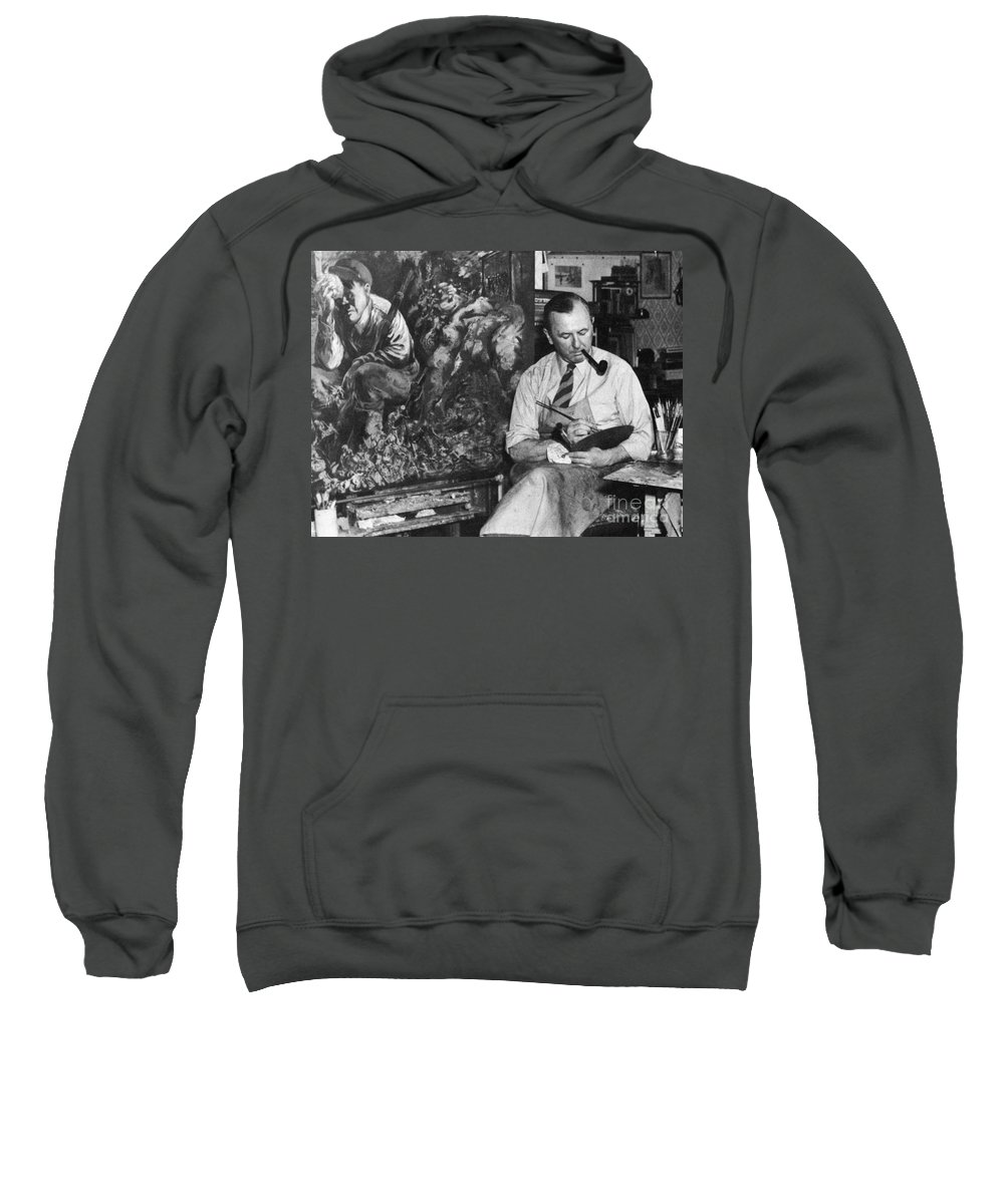 1944 Sweatshirt featuring the photograph George Grosz (1893-1959) by Granger
