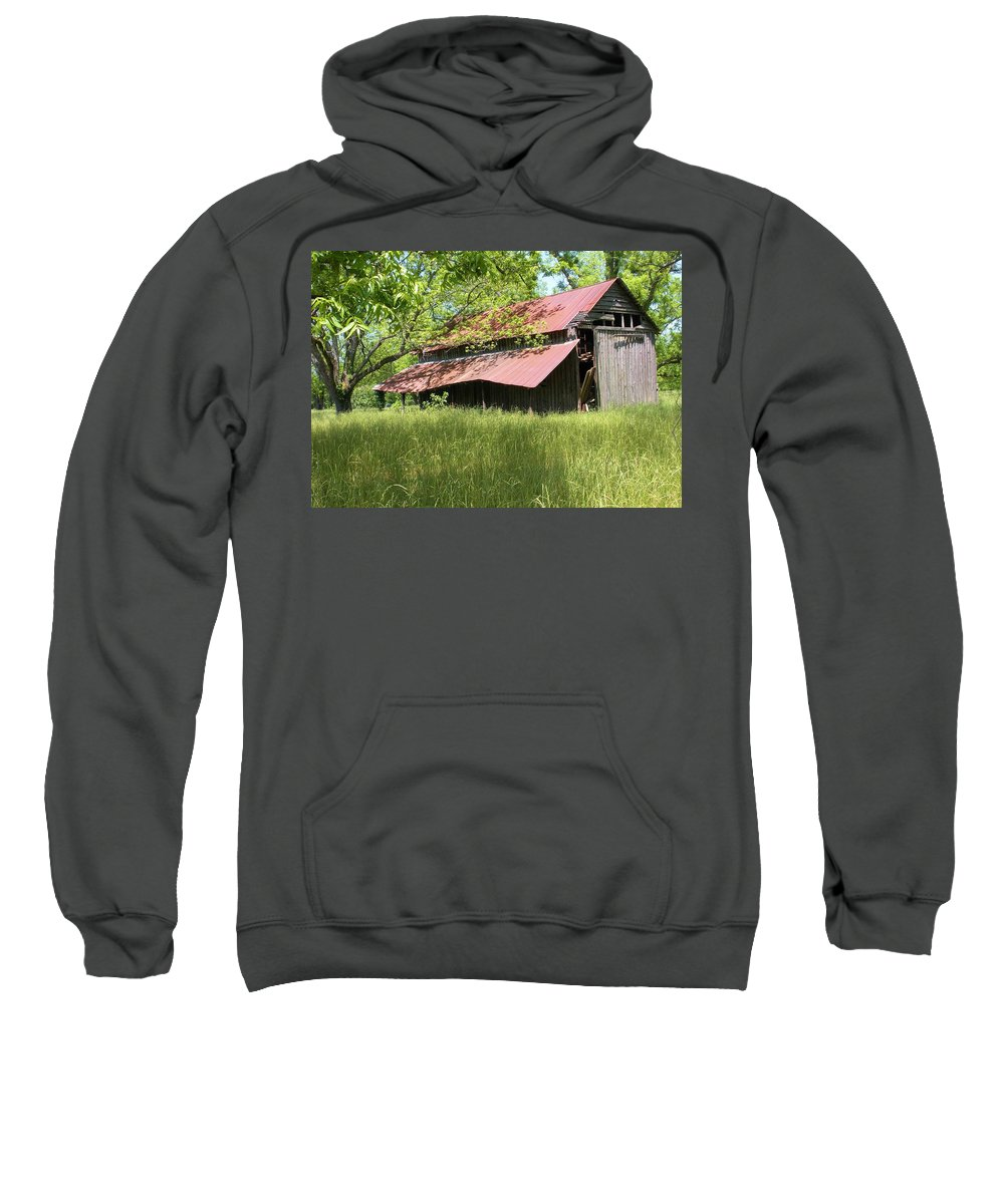 Barn Sweatshirt featuring the photograph Georgia Barn by Nelson Strong