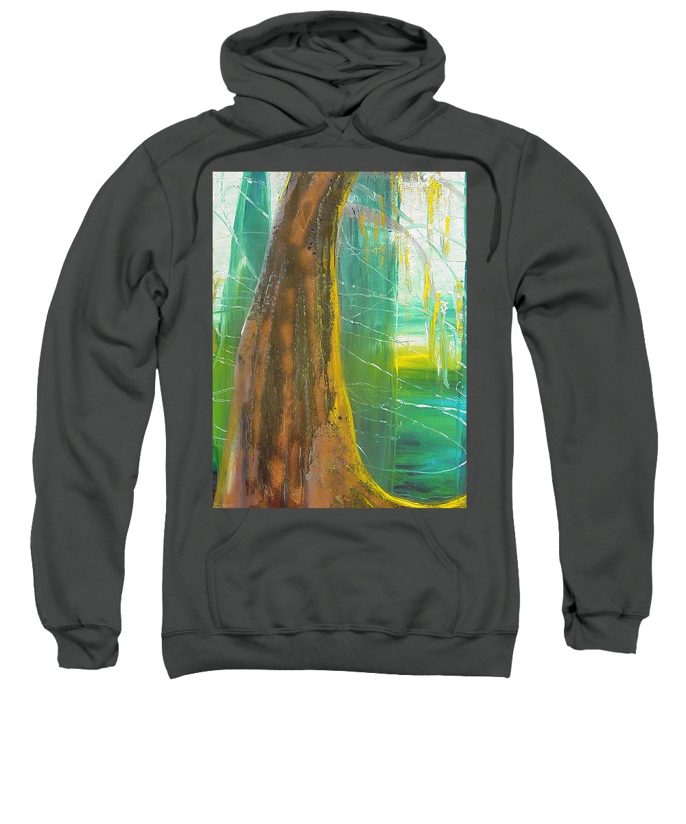 Landscape Sweatshirt featuring the painting Georgia Morning by Peggy Blood
