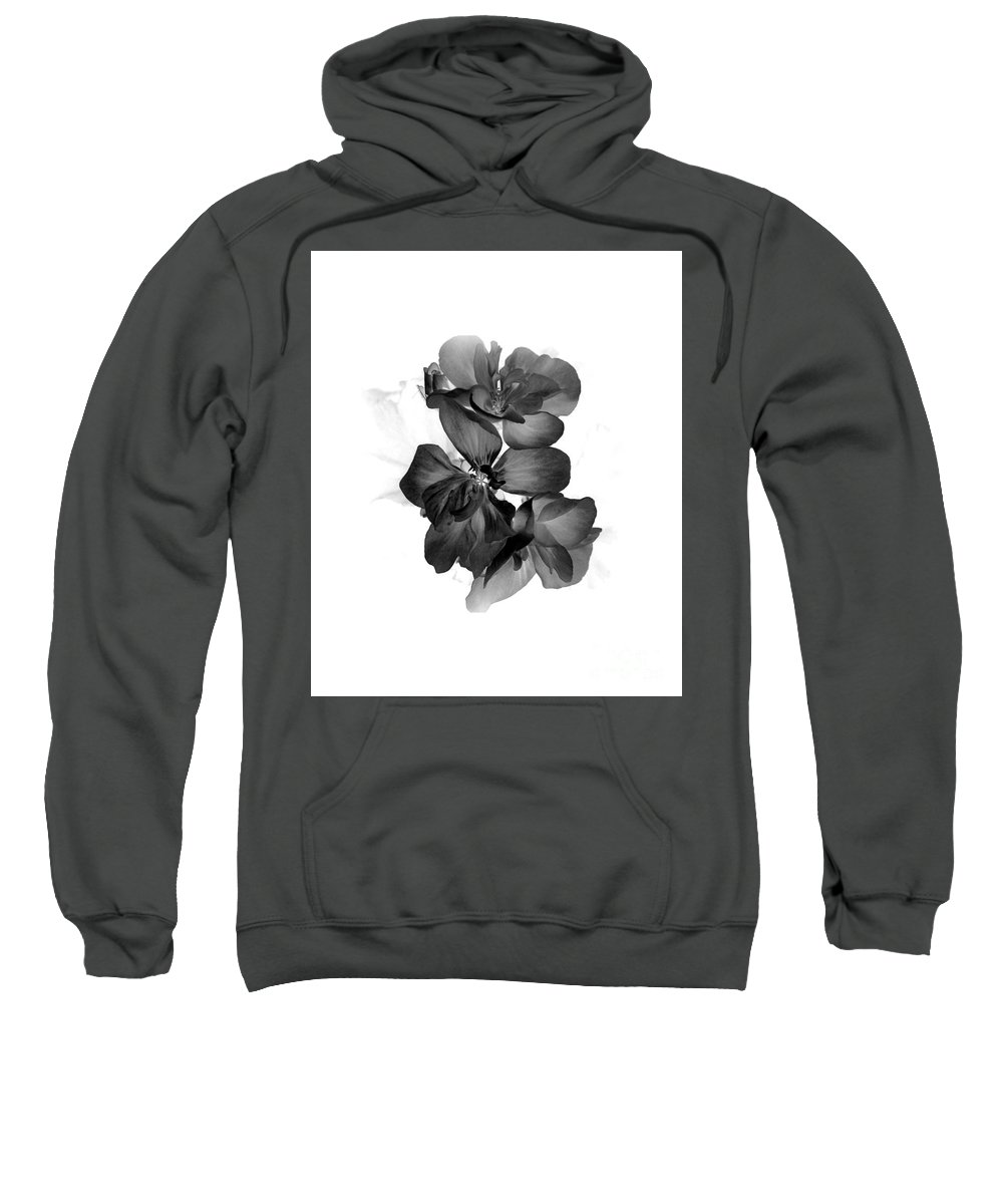 Flowers Sweatshirt featuring the photograph Geranium Black by Ioanna Papanikolaou