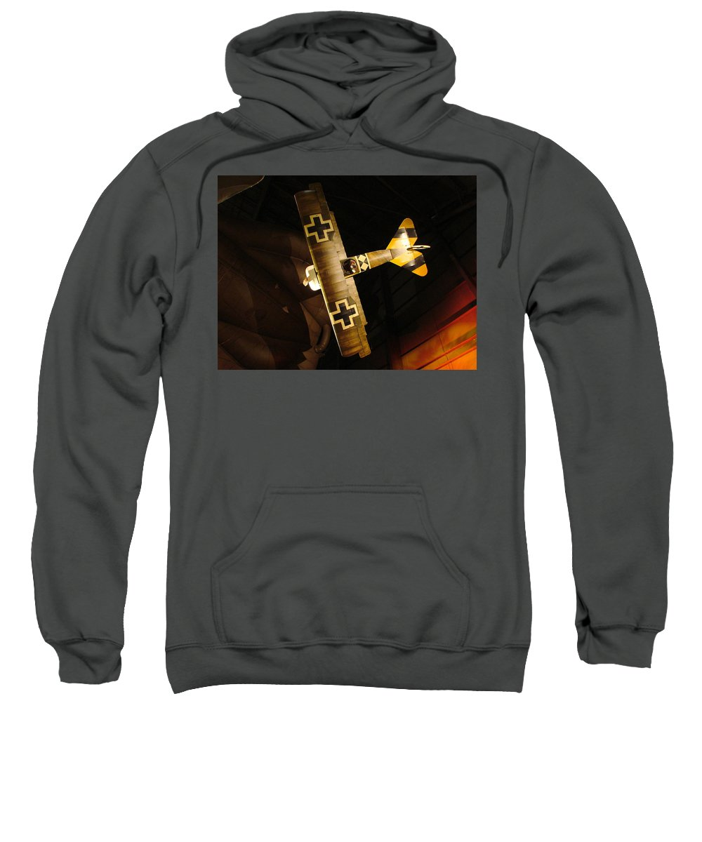 Usaf Museum Sweatshirt featuring the photograph German Wwi Attack by Tommy Anderson