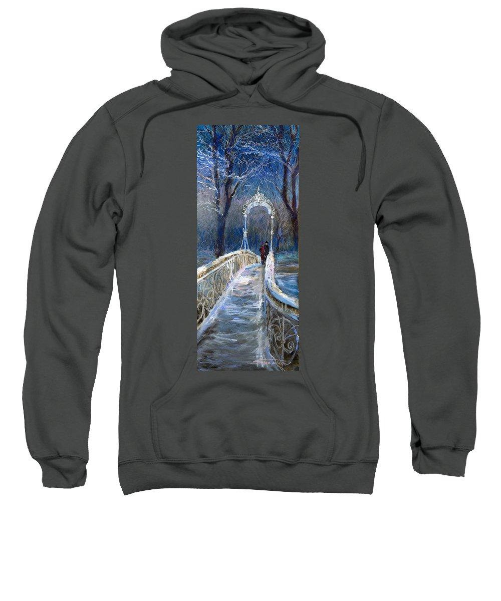 Pastel Sweatshirt featuring the painting Germany Baden-baden 02 by Yuriy Shevchuk