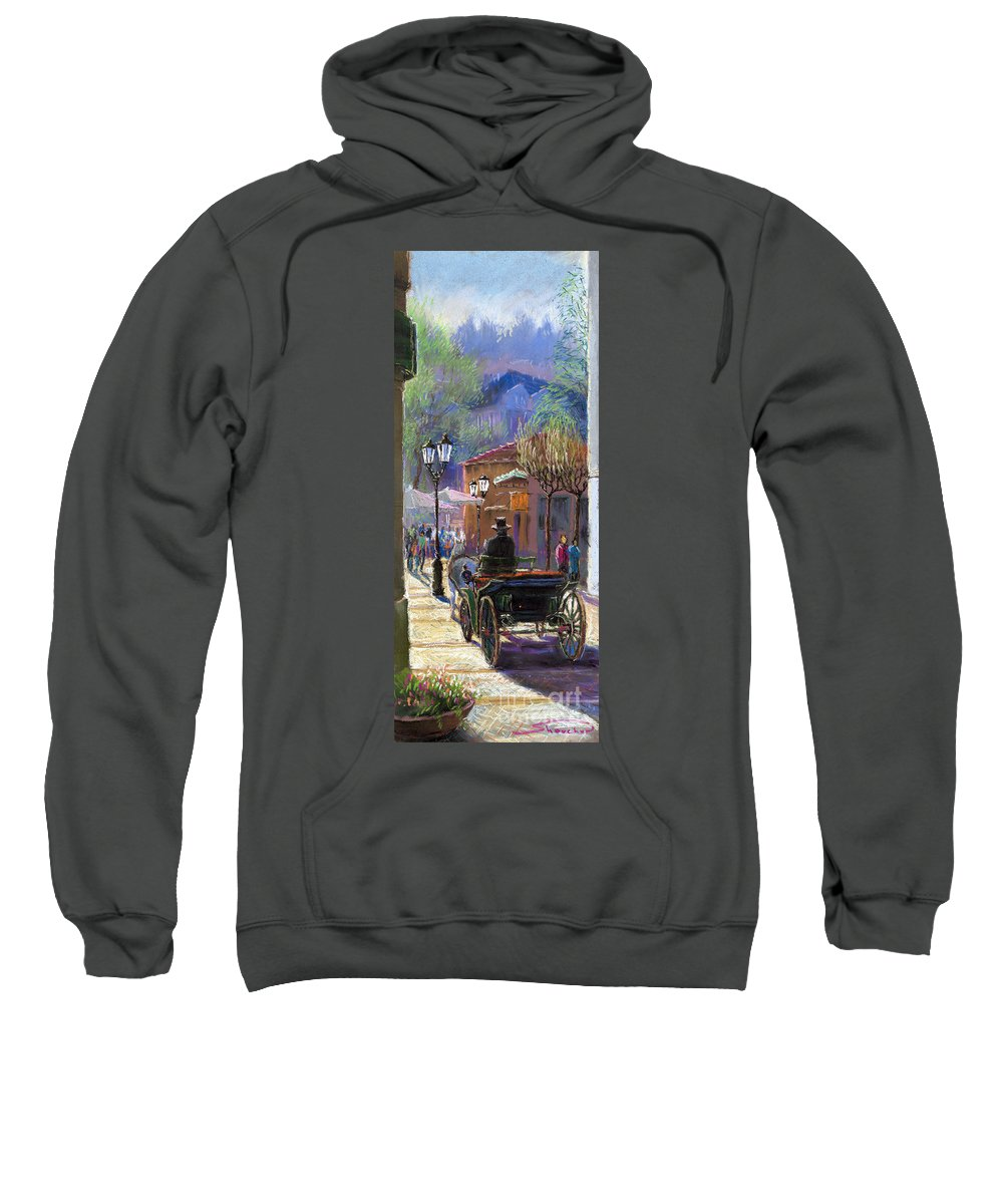 Pastel Sweatshirt featuring the painting Germany Baden-baden Spring Ray by Yuriy Shevchuk