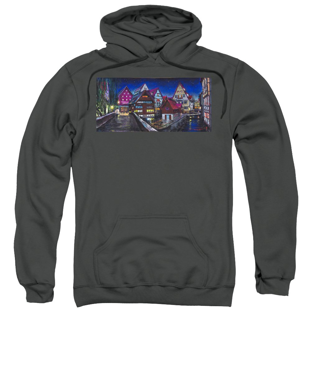 Pastel Sweatshirt featuring the painting Germany Ulm Fischer Viertel by Yuriy Shevchuk