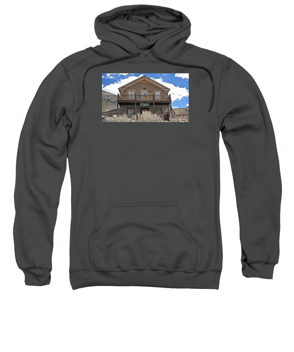 4x4 Sweatshirt featuring the photograph Ghost Hotel by Backcountry Explorers