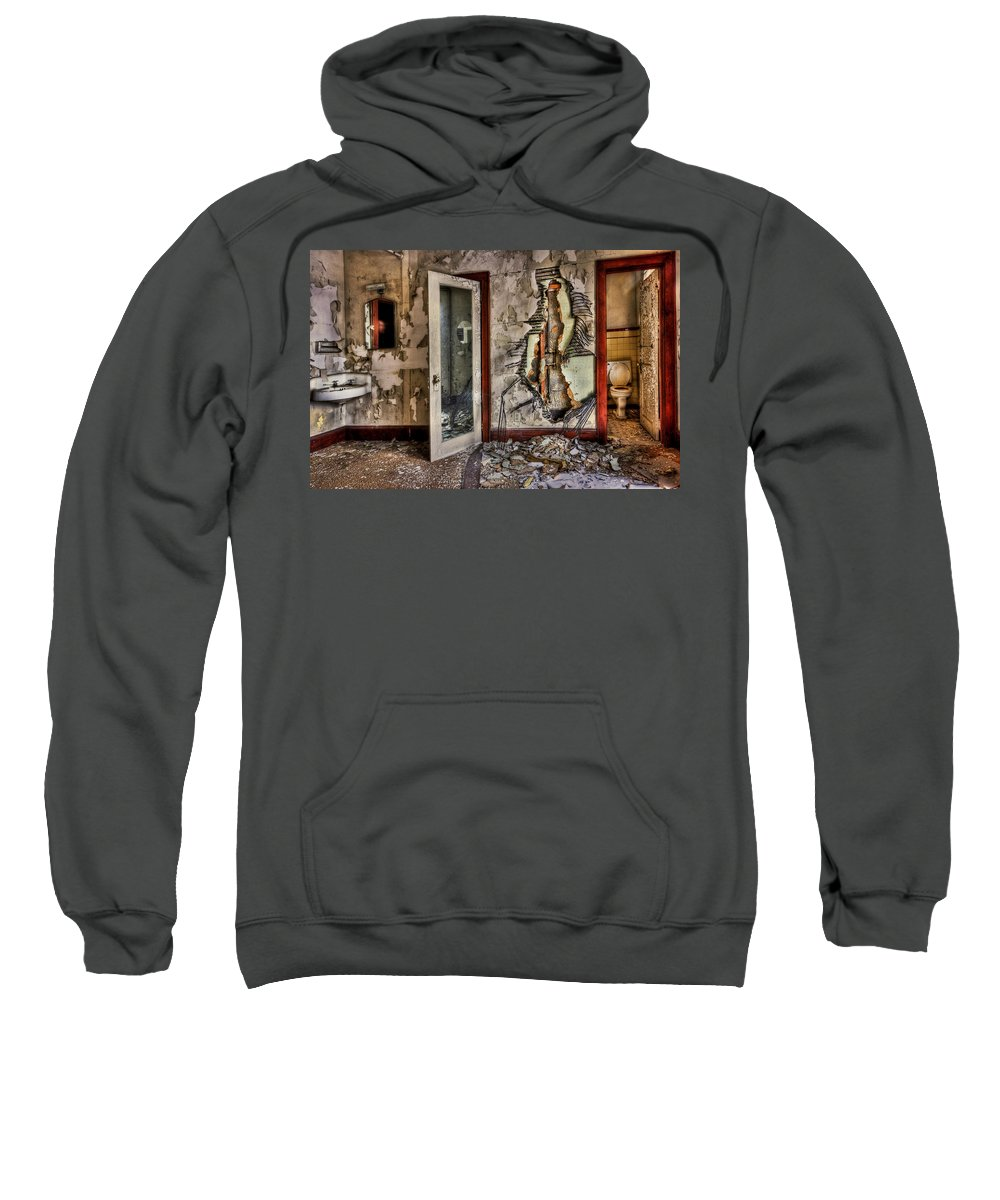 Ghost Sweatshirt featuring the photograph Ghost Of Time by Evelina Kremsdorf