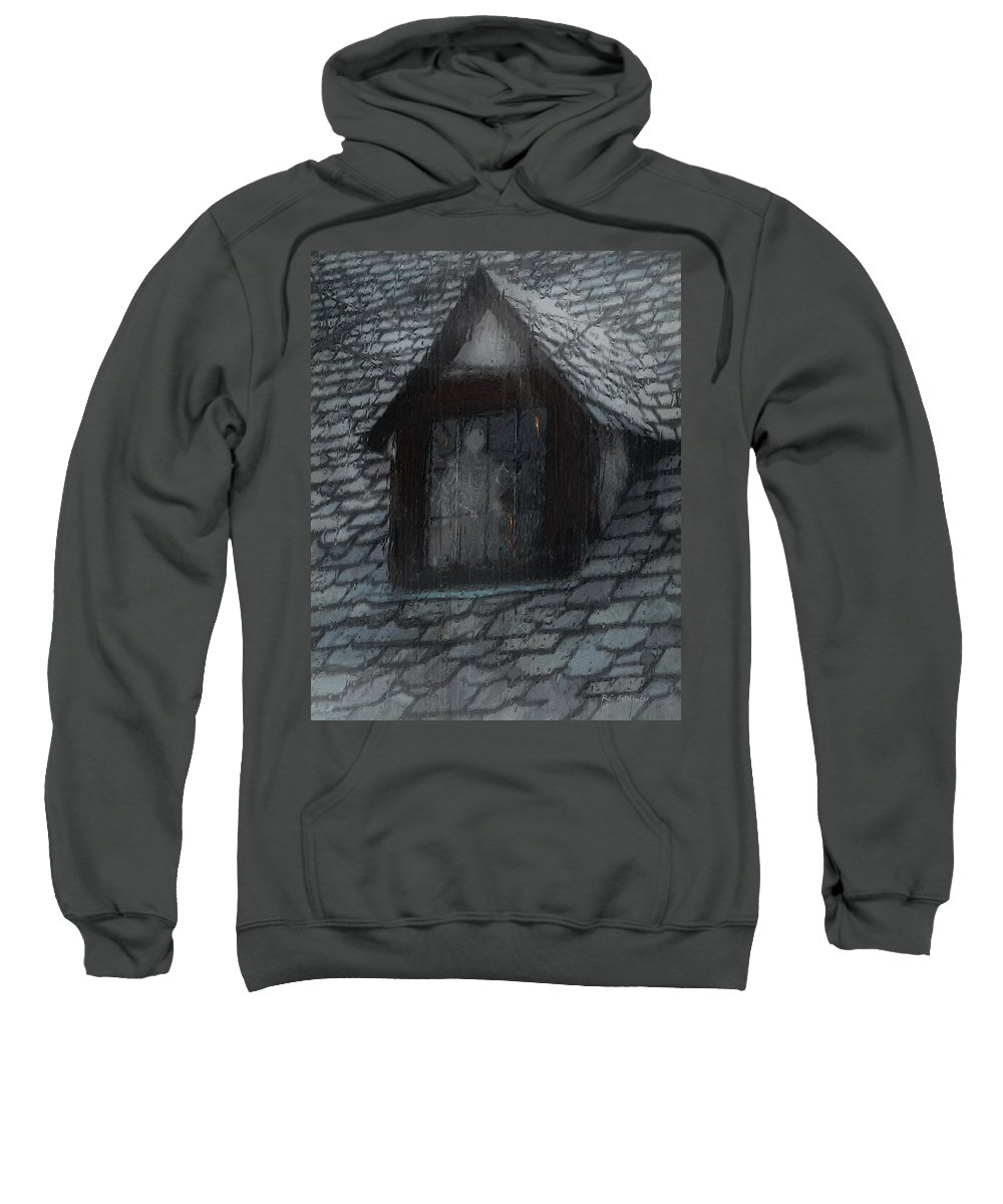 Ghost Sweatshirt featuring the painting Ghost Rain by RC deWinter
