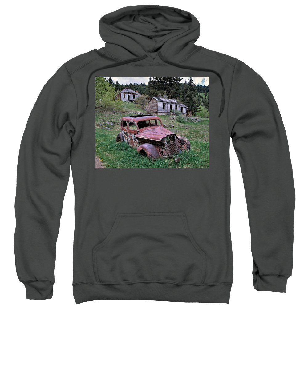 Montana Sweatshirt featuring the photograph Ghost Town by Leland D Howard