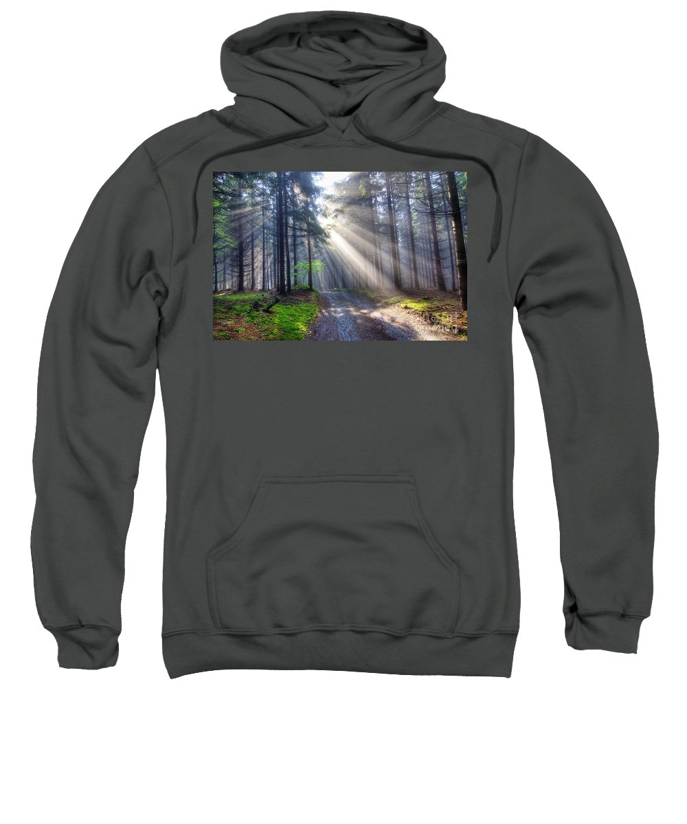 Rays Sweatshirt featuring the photograph Gift Of Light by Michal Boubin