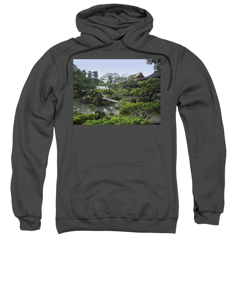 silver Pavilion Sweatshirt featuring the photograph Ginkaku-ji Zen Temple No. 1 - Kyoto Japan by Daniel Hagerman