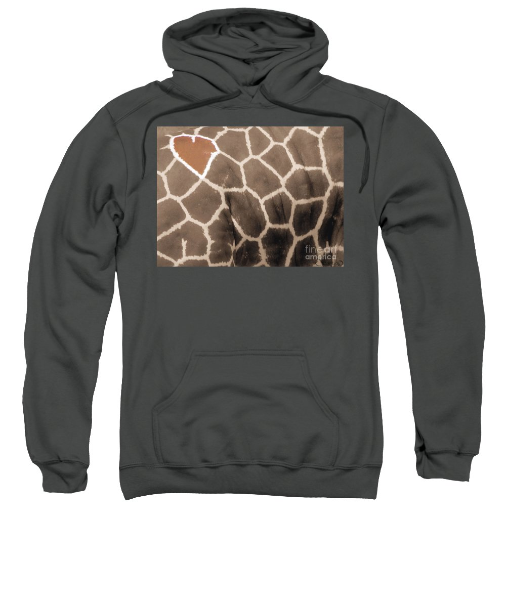 Grraffe Sweatshirt featuring the photograph Giraffe Love by September Stone