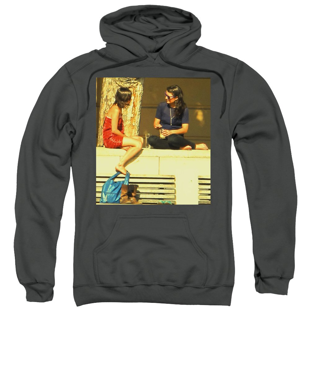 Girl Sweatshirt featuring the photograph Girl Talk by Ian MacDonald