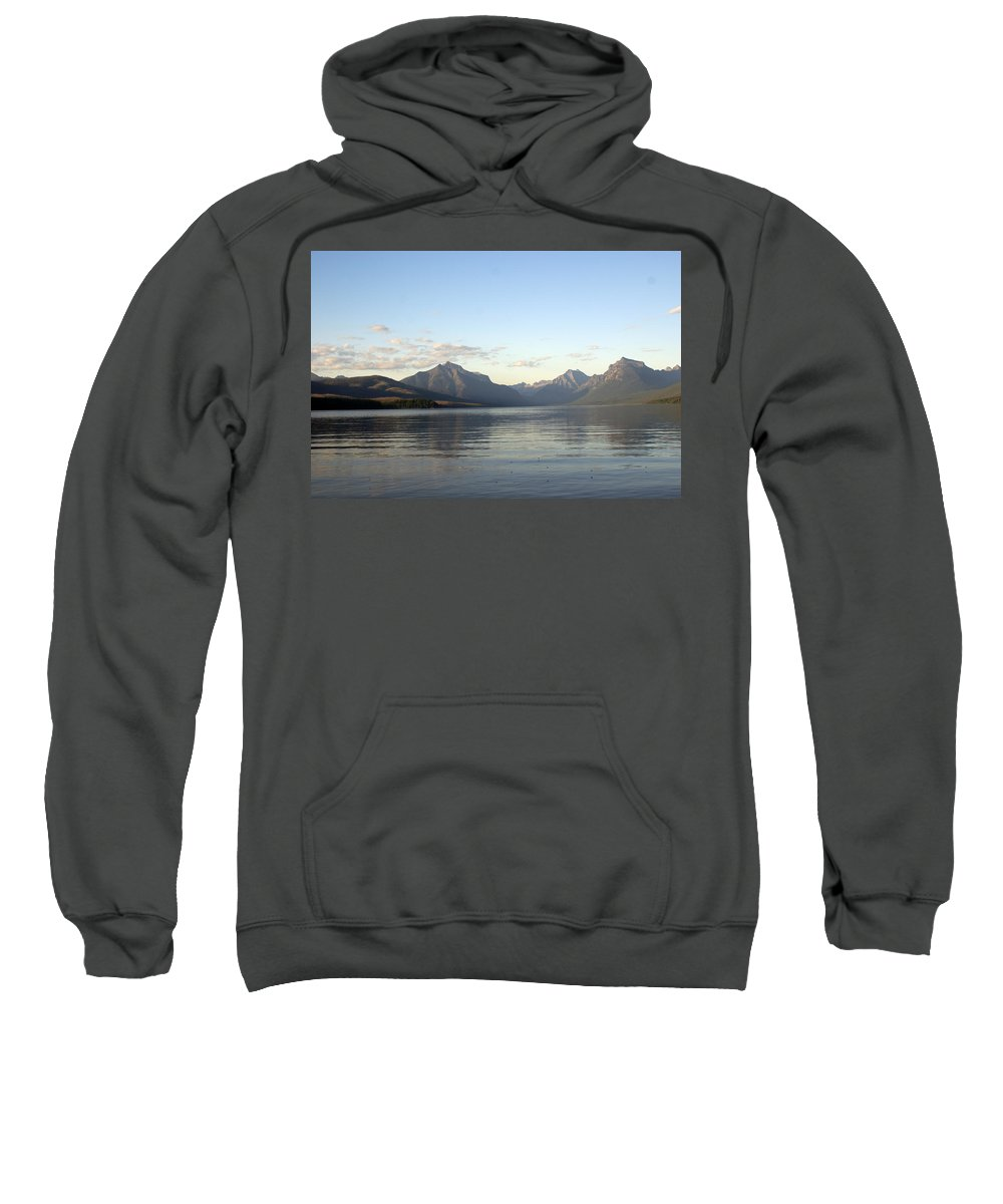 Sweatshirt featuring the photograph Glacier Reflections 3 by Marty Koch