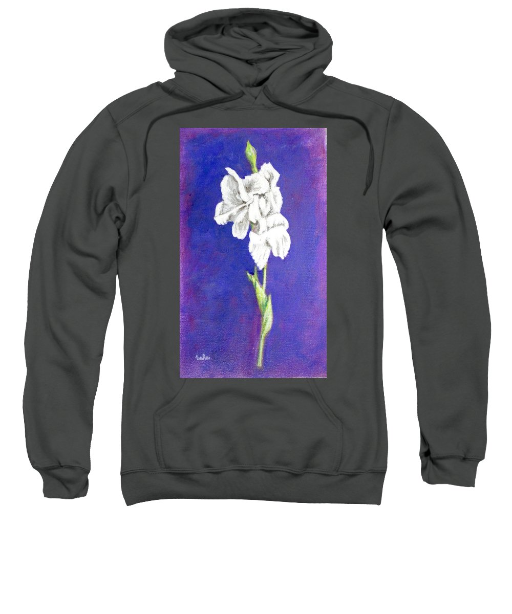 Sweatshirt featuring the painting Gladiolus 2 by Usha Shantharam