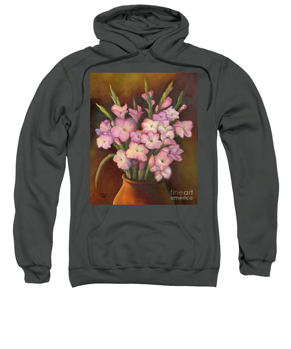 Flowers Sweatshirt featuring the painting Glads by Marlene Book
