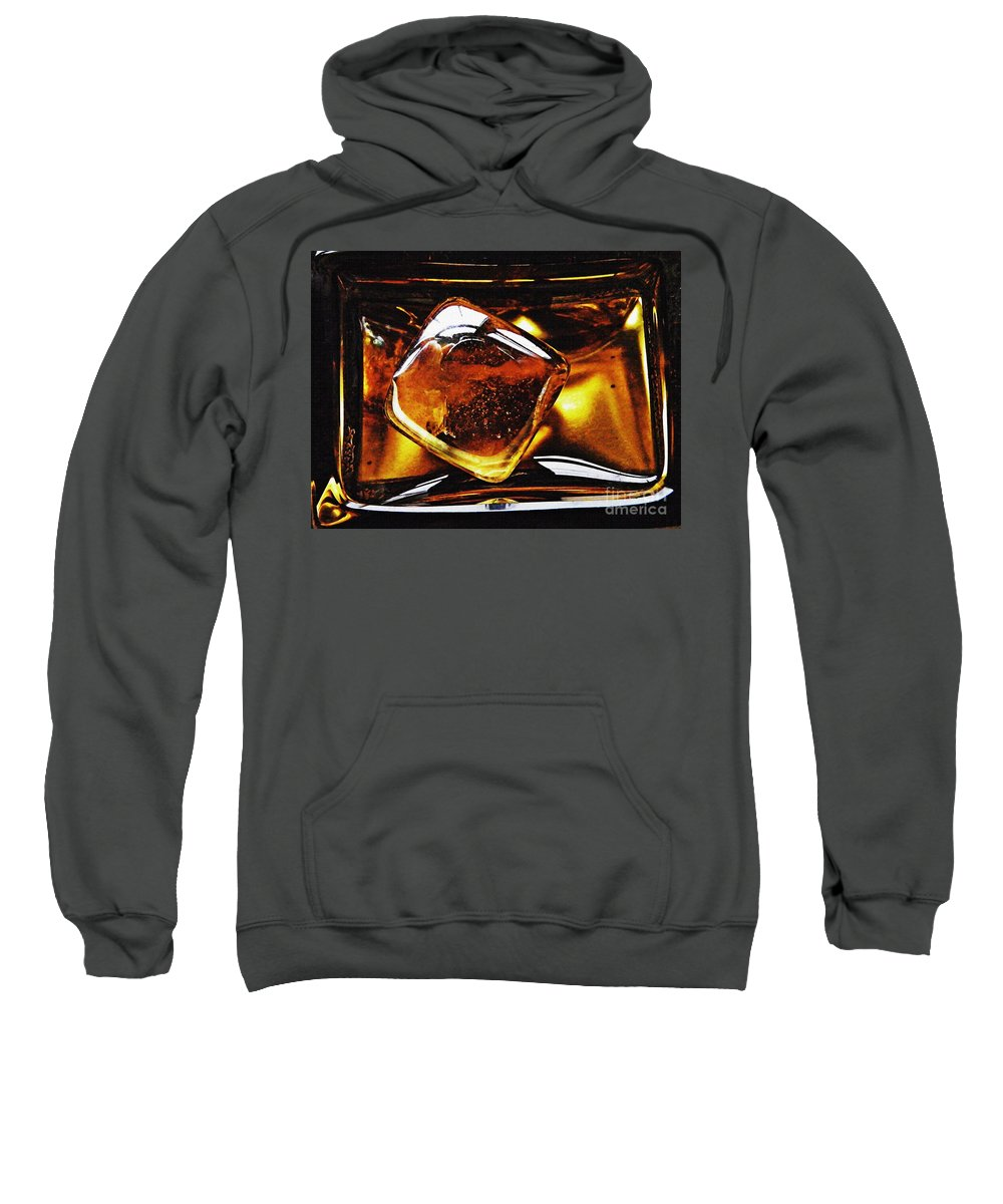 Abstract Sweatshirt featuring the photograph Glass Abstract 317 by Sarah Loft