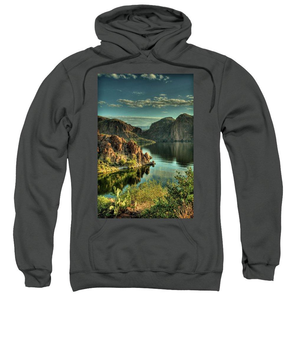 Arizona Sweatshirt featuring the photograph Glass Lake by Saija Lehtonen