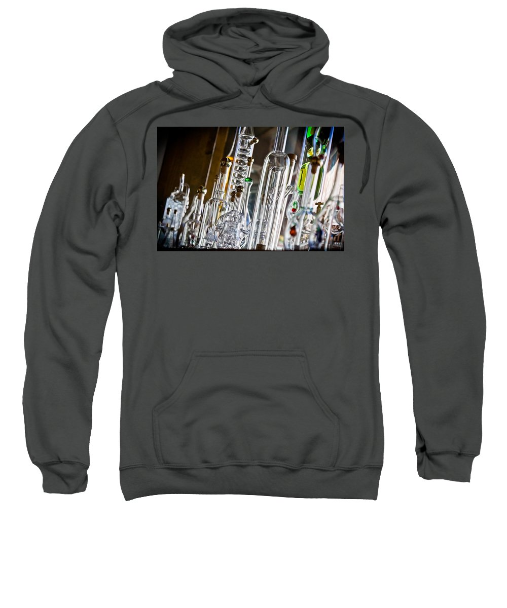 Black Forest Sweatshirt featuring the photograph Glassblower's Shoppe by Jill Smith