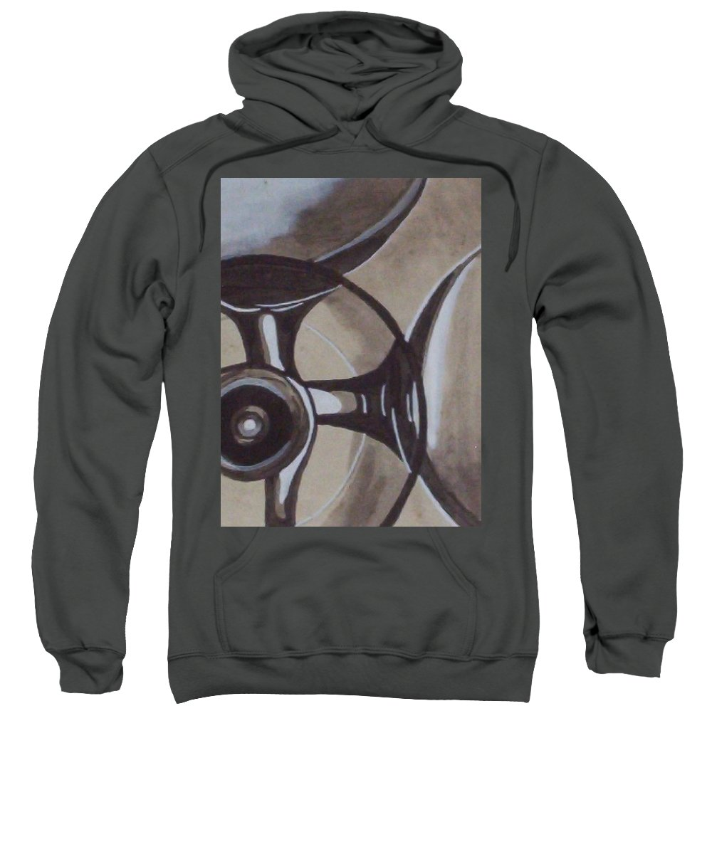 Glasses Sweatshirt featuring the painting Glasses by Joan Stratton
