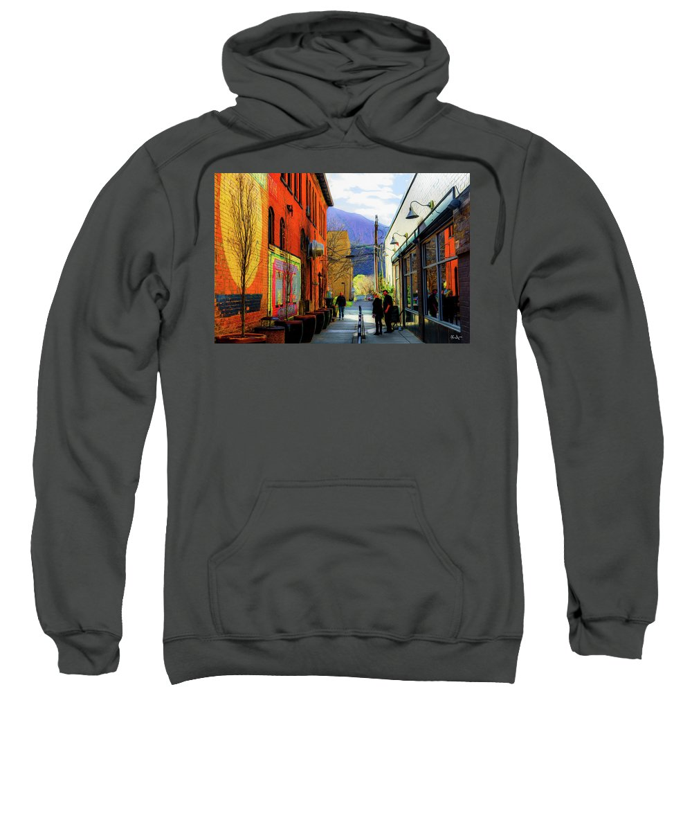 Glenwood Springs Sweatshirt featuring the photograph Glenwood Alleyscape by Dean Arneson