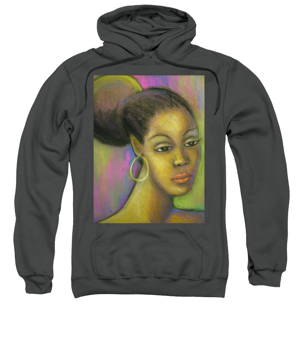 Drawing Sweatshirt featuring the drawing Glisten by Jan Gilmore