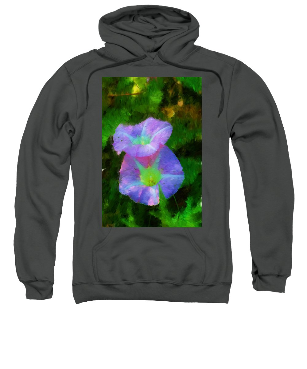 Floral Sweatshirt featuring the painting Gloria In The Shade by David Lane