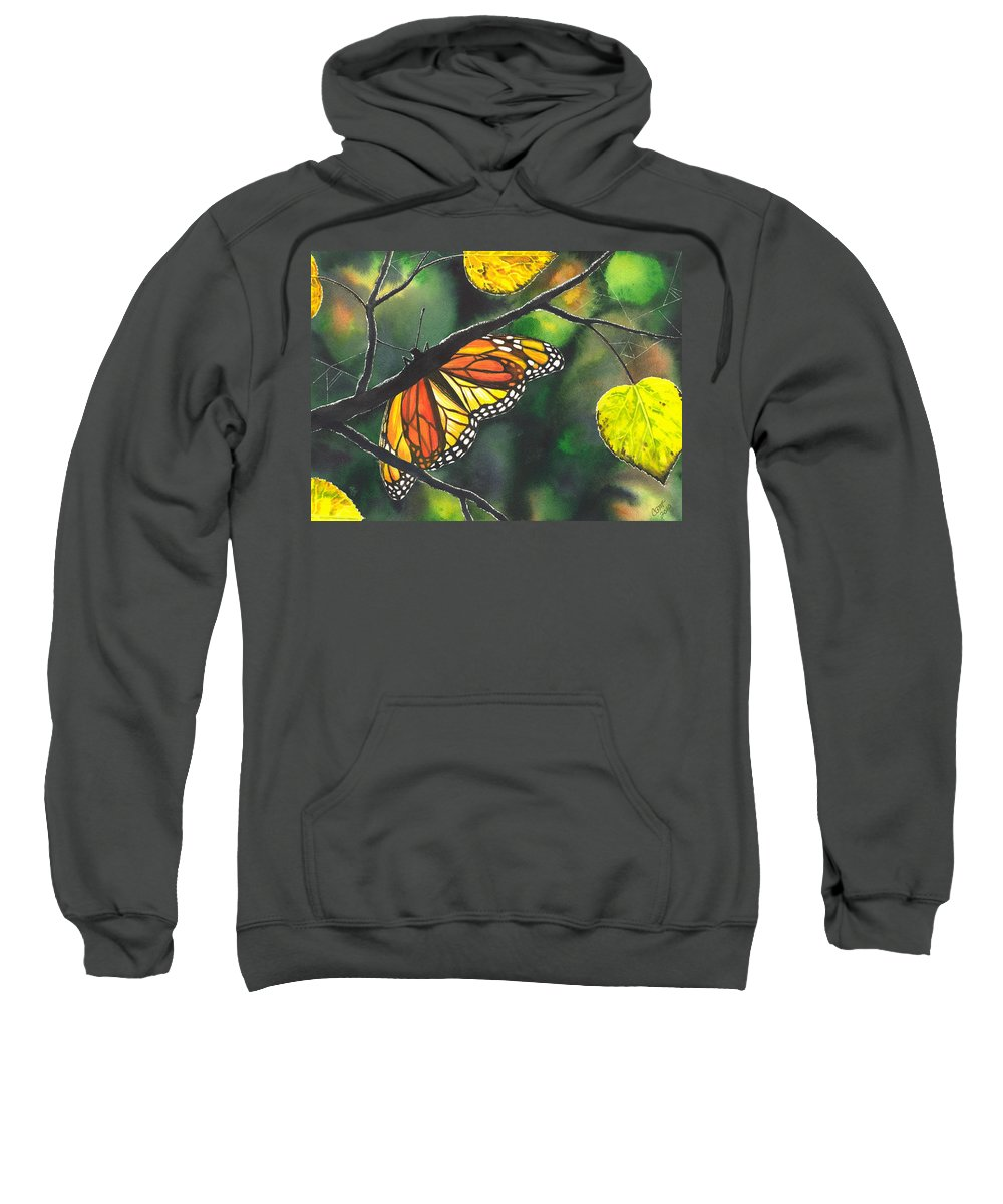 Butterfly Sweatshirt featuring the painting Glow by Catherine G McElroy