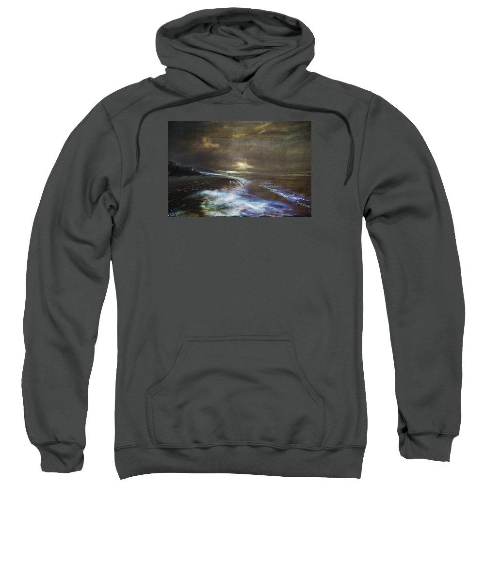 Glow Sweatshirt featuring the photograph Glow Trail by Austin Howlett