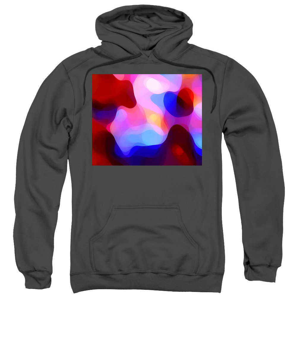 Abstract Painting Sweatshirt featuring the painting Glowing Light by Amy Vangsgard