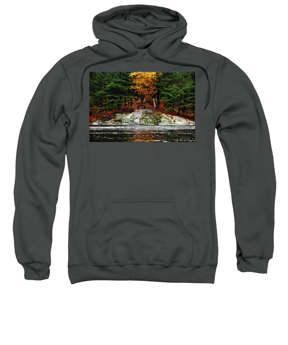 Five Finger Rapids Sweatshirt featuring the photograph Glowing Tranquility by Debbie Oppermann