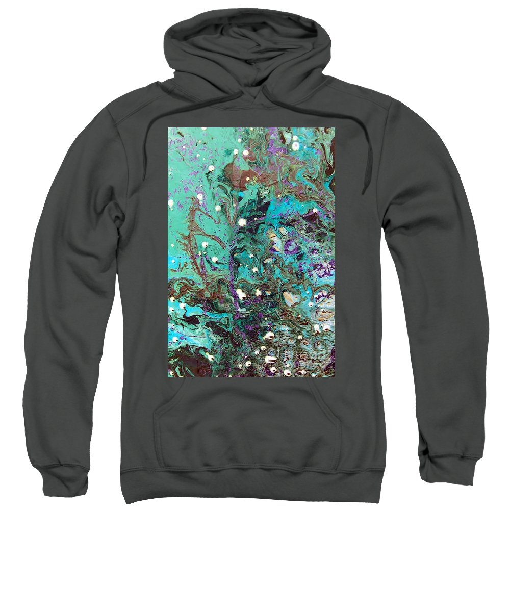 Go With The Flow Sweatshirt featuring the painting Go With The Flow by Dawn Hough Sebaugh