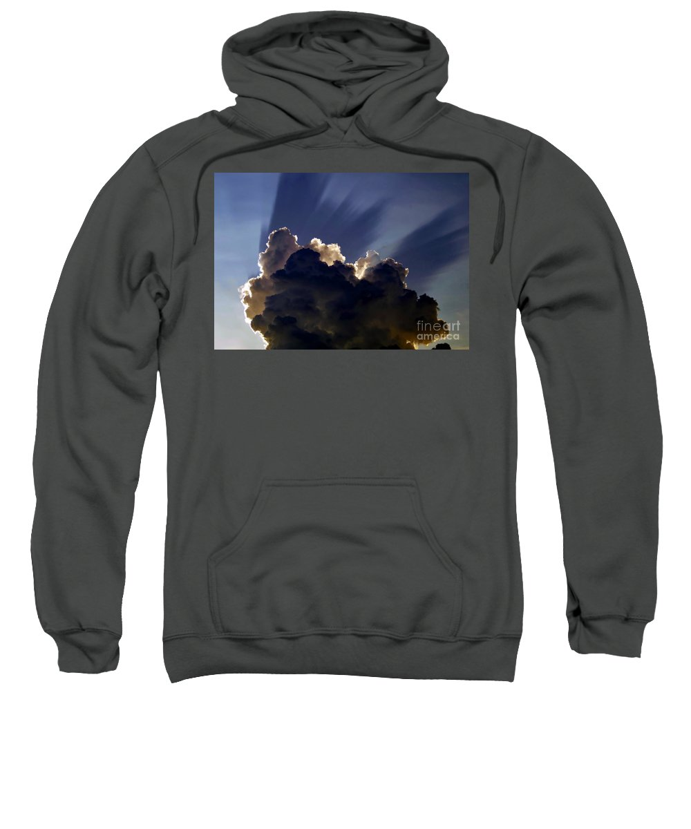 God Sweatshirt featuring the painting God Speaking by David Lee Thompson