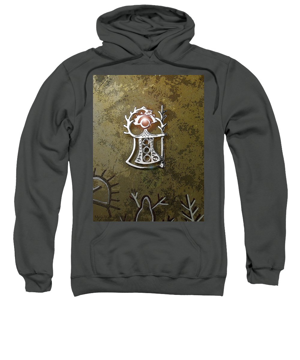 Goddess Sweatshirt featuring the digital art Goddess Of Fertility by Merja Waters