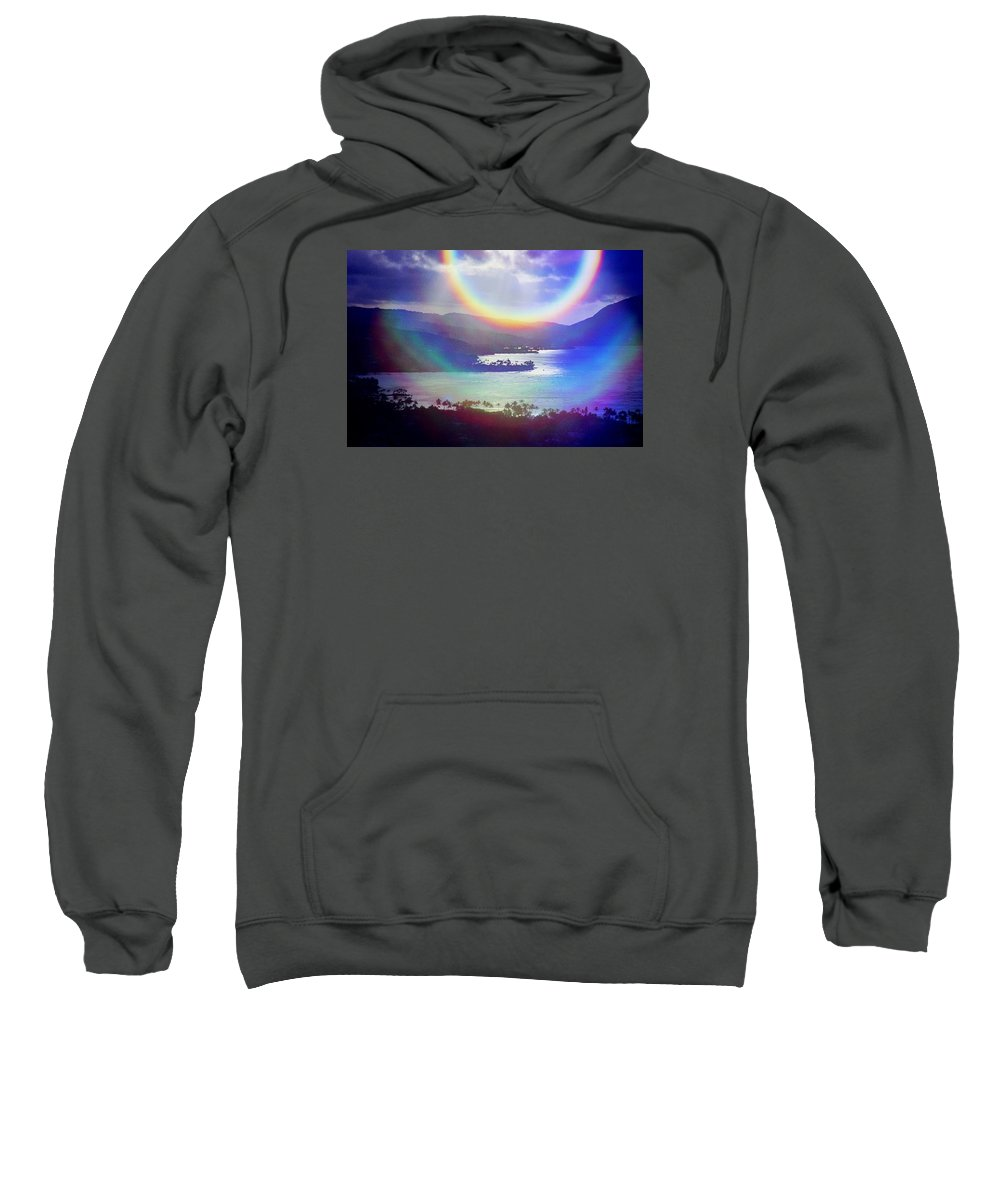 Maunalua Bay Sweatshirt featuring the photograph Gods Eye by Kevin Smith