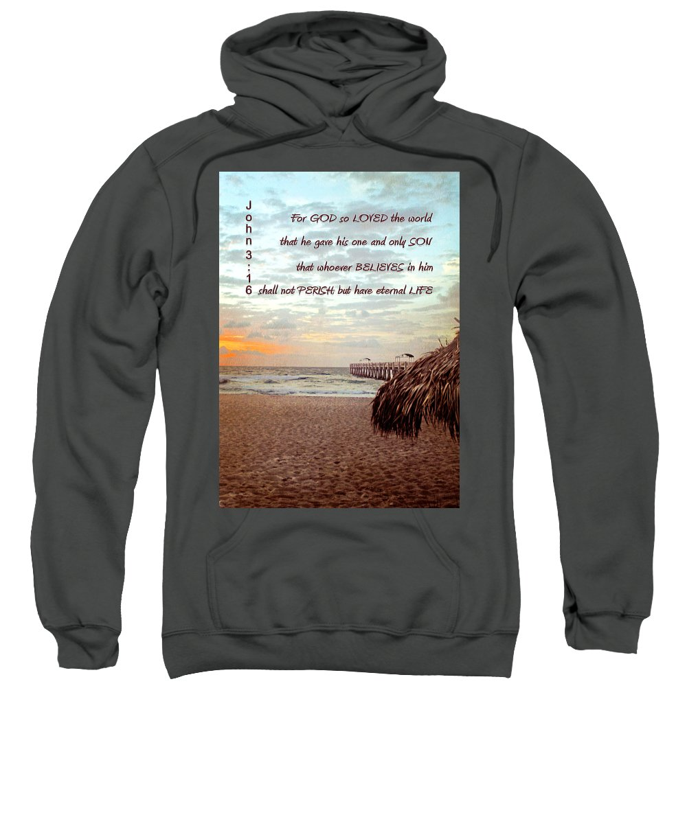 Jesus Sweatshirt featuring the digital art Gods Love by Francisco Colon