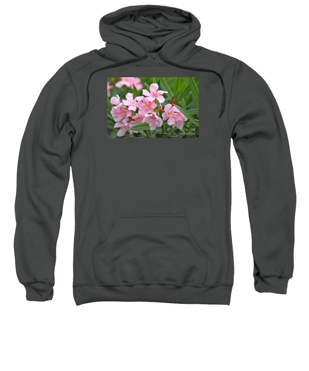 Oleander Sweatshirt featuring the photograph Gogh Oleander by Bev Veals