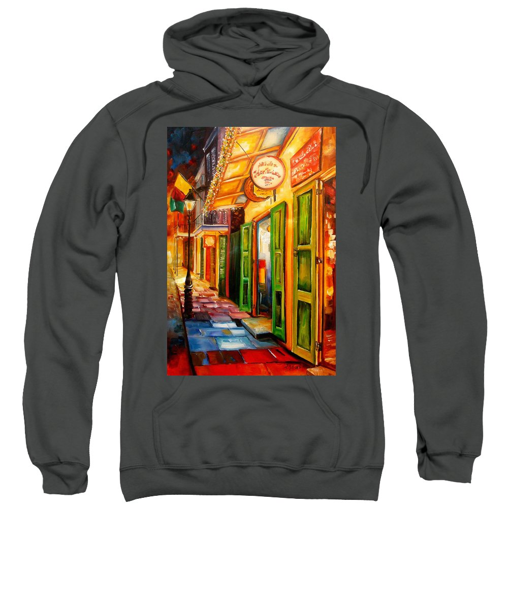New Orleans Sweatshirt featuring the painting Going Back To New Orleans by Diane Millsap