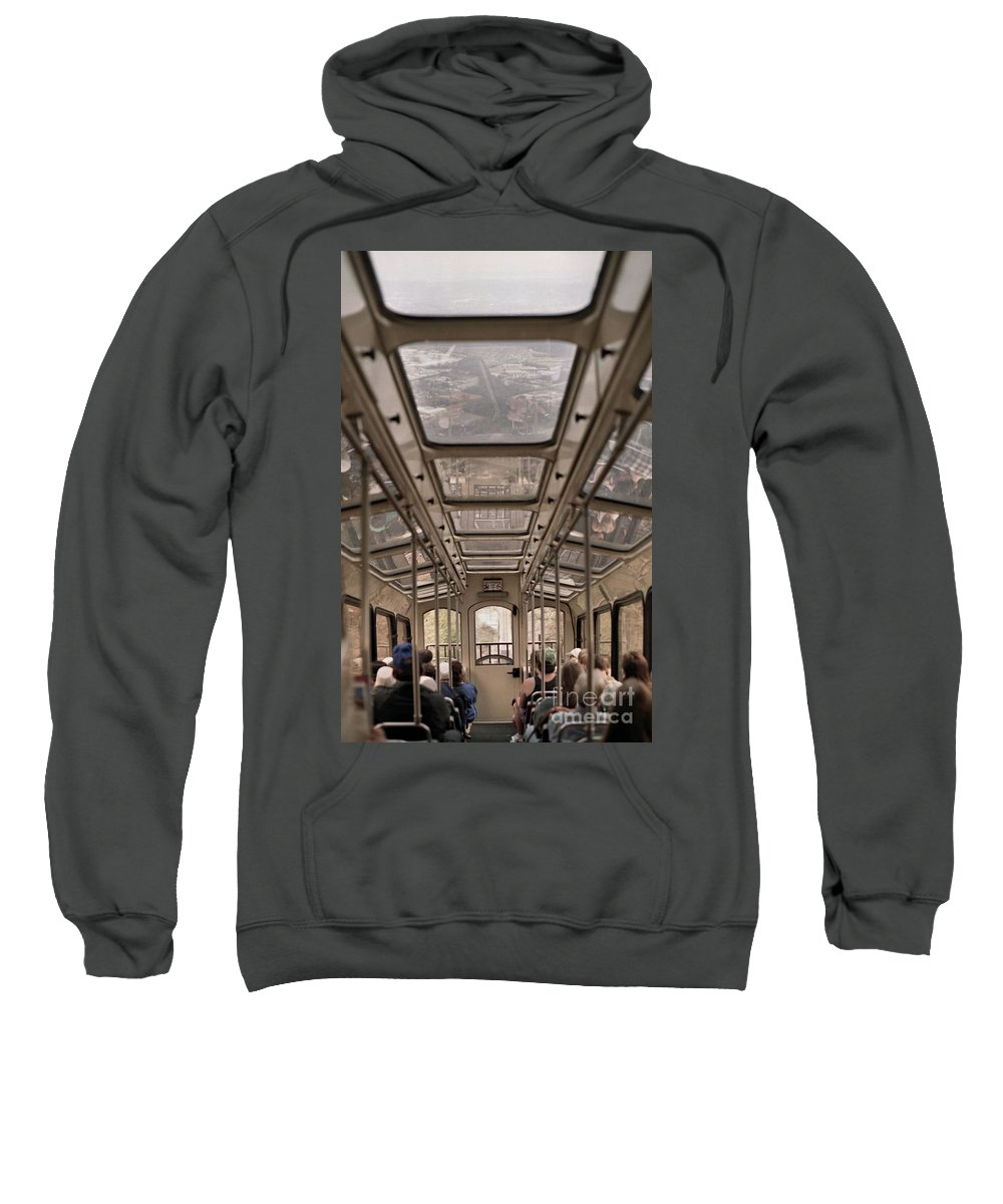 Cable Car Sweatshirt featuring the photograph Going Down by Richard Rizzo
